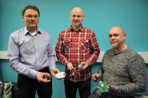 Janne Kallio CEO, Kimmo Pihlajamaa Production and Testing, Juha Ryynänen Sales Director